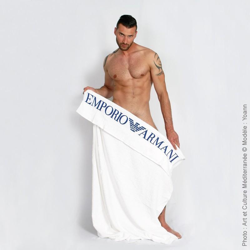 Yoann - Emporio Armani towel - Histoires D'Hommes