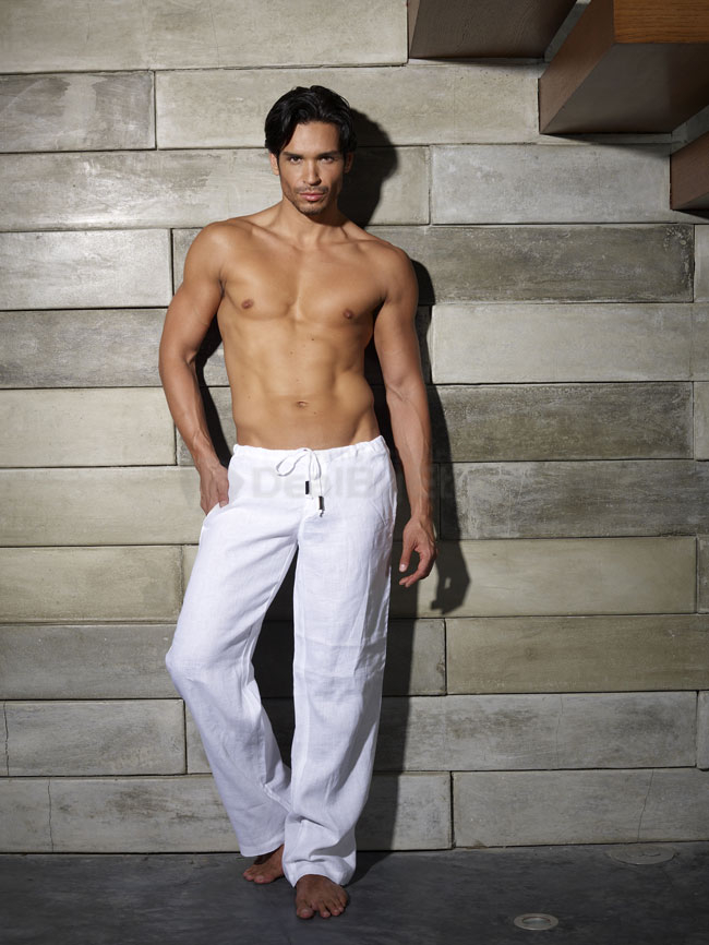 Sauvage loungewear - White linen pants for men