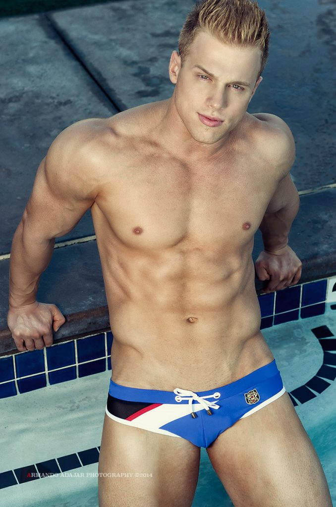 Evan Nelson in Marcuse swimwear by Armando Adajar