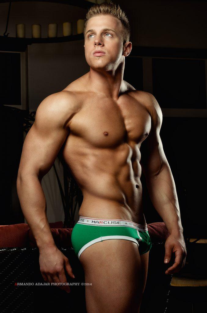 Evan Nelson in Marcuse underwear by Armando Adajar