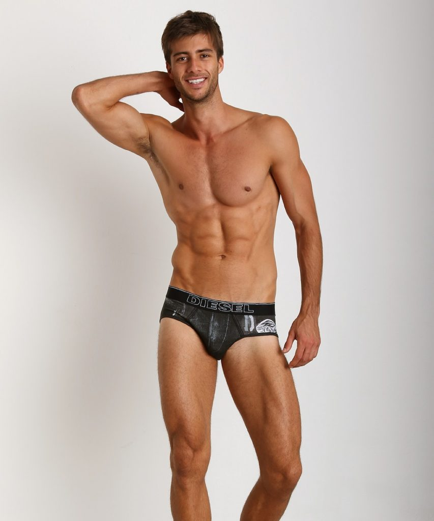 Diesel underwear - Rico brief - Black Jean print
