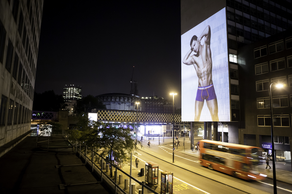 CR7 underwear - Installation in London