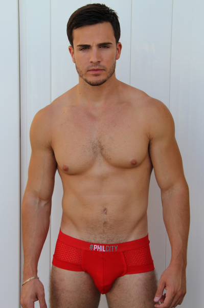 Philip Fusco in underwear by his own band PhilCity