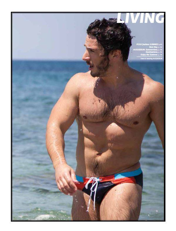 Steve Raider - Antivirus magazine editorial - aussieBum swimwear