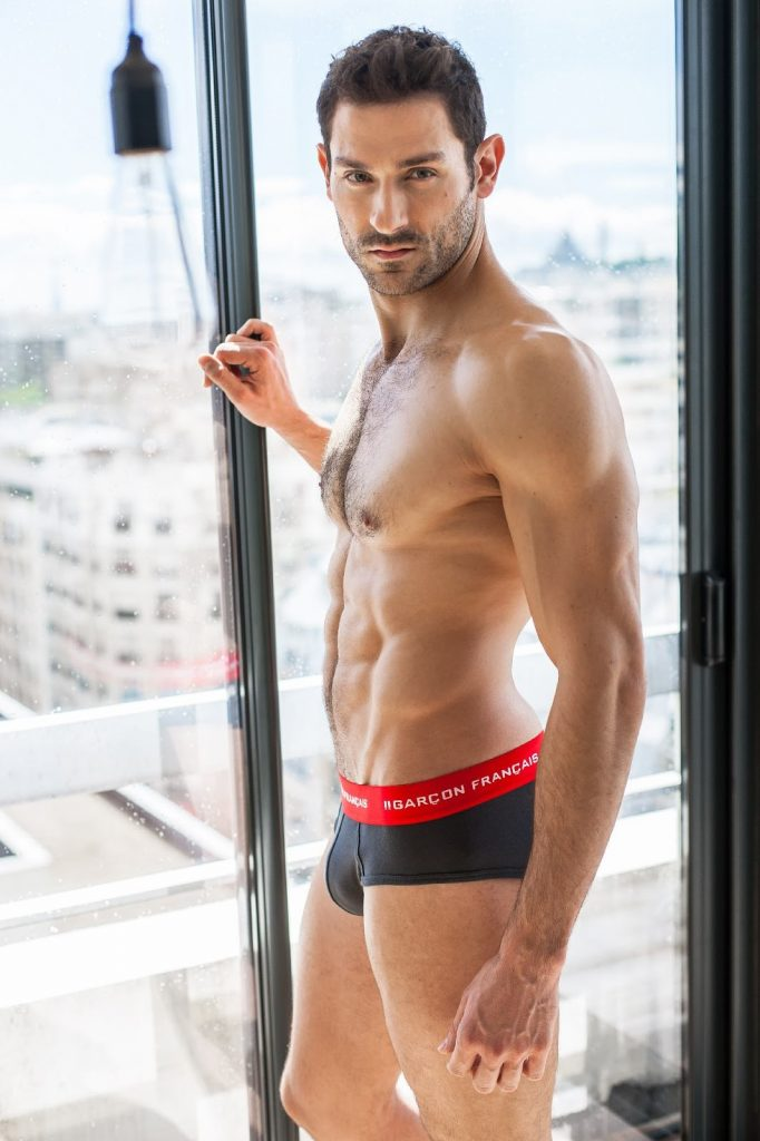 Garcon Francais underwear - charcoal grey briefs