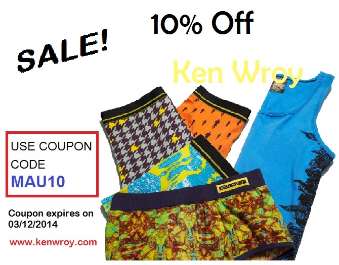 Ken Wroy underwear - coupon code offer