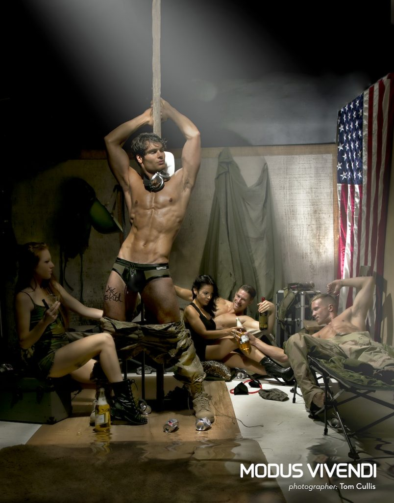 Matt LeMond, Adam Fletcher, Darrell Thomas, Erin Lup, Mona Dash by Tom Cullis for Modus Vivendi Military Line campaign