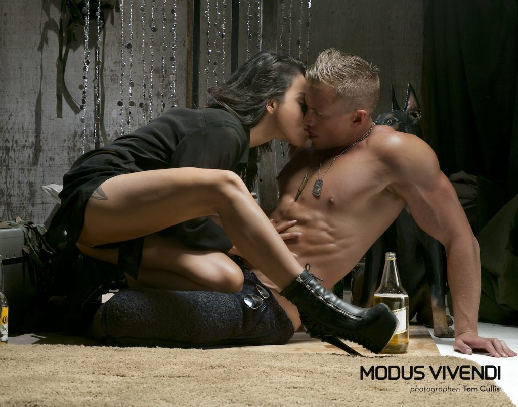 Adam Fletcher, Mona Dash by Tom Cullis for Modus Vivendi Military Line campaign