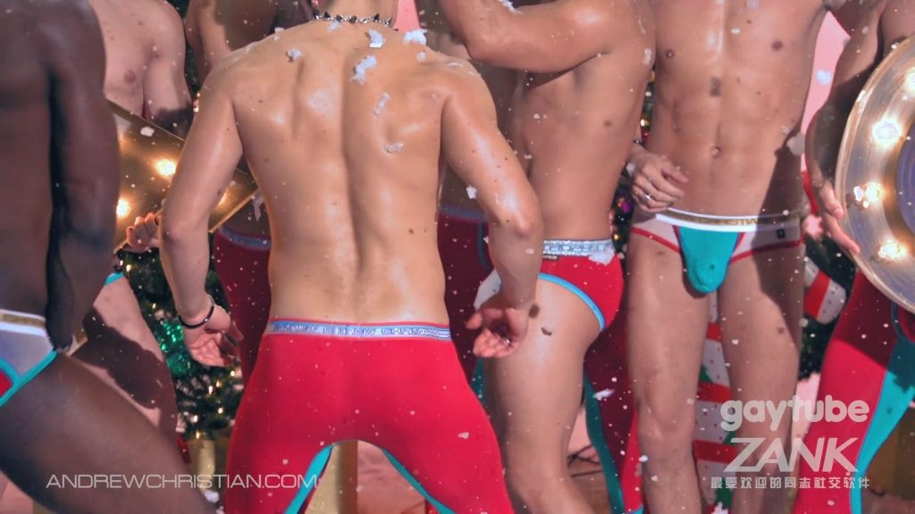 Andrew Christian video - hunky Santas