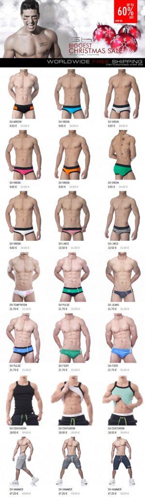 Gabriel Homme - Christmas underwear sale