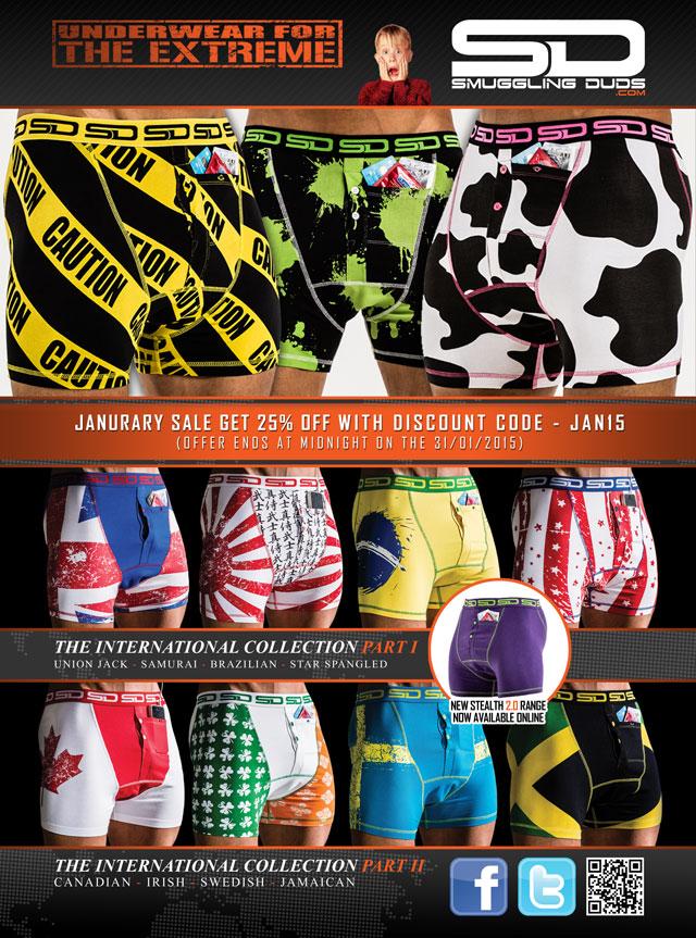 Smuggling Duds underwear sale