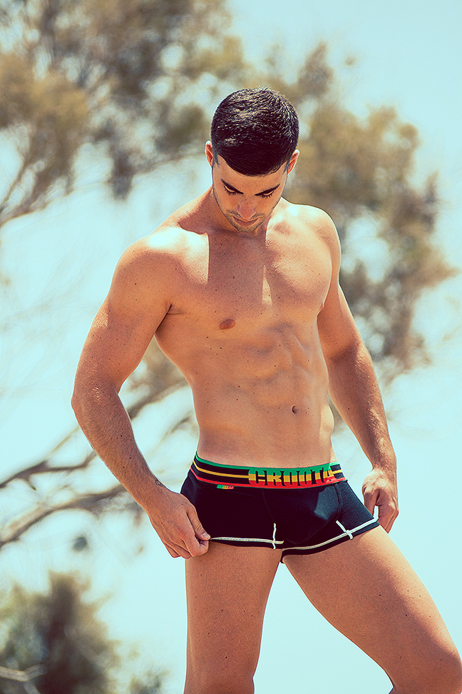 Carlos Guillen photographed by Adrian C Martin for Croota underwear