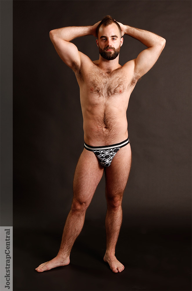 Jonathan poses for Jockstrap Central in Raw Studio Swim Jocks