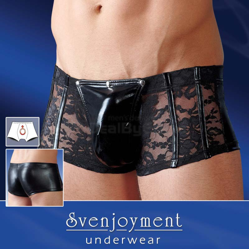 Svenjoyment underwear - Detachable Pouch Lace Boxer Brief