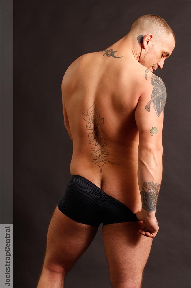 Tristian for Jockstrap Central in Male Power Radical Sport Zipper shorts