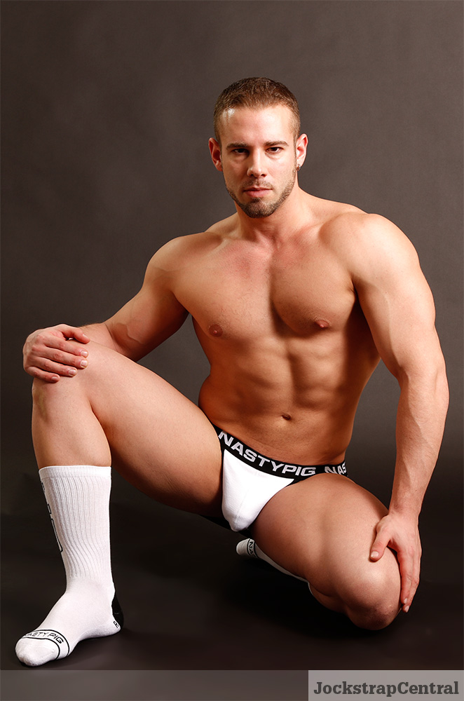 Trent in Nasty Pig Imprint underwear for Jockstrap Central