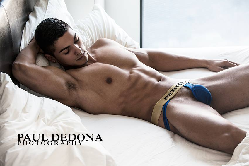 Sexy Andrei photographed by Paul Dedona in Petit-Q underwear