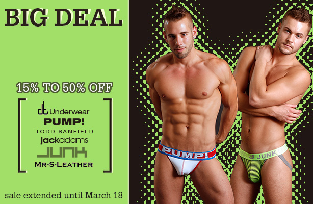 Underwear sale at Jockstrap Central