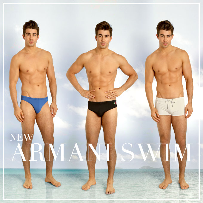 New Emporio Armani swimwear at International Jock