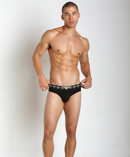 Emporio Armani Fancy Elastic Brief Black