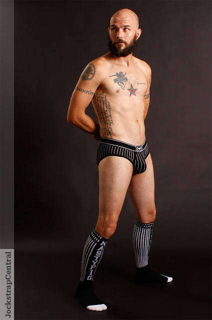 Mick in Nasty Pig Ref underwear for Jockstrap Central 01