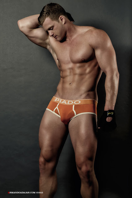Alex Cairns in PIADO underwear photographed by Armando Adajar