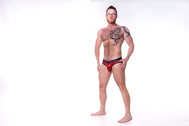 Craig Hendry posing in Bum-Chums underwear