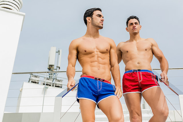 Tomás Pérez and Jonathan Naranjo by Adrian C. Martin for BWET swimwear