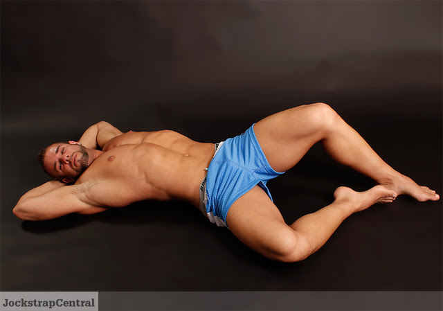 Trent in Jack Adams Air Mesh Gym Shorts for Jockstrap Central