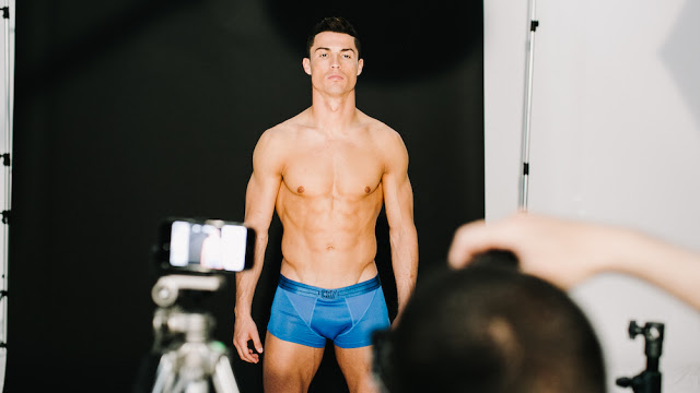 Cristiano Ronaldo backstage for CR7 underwear photo-shoot