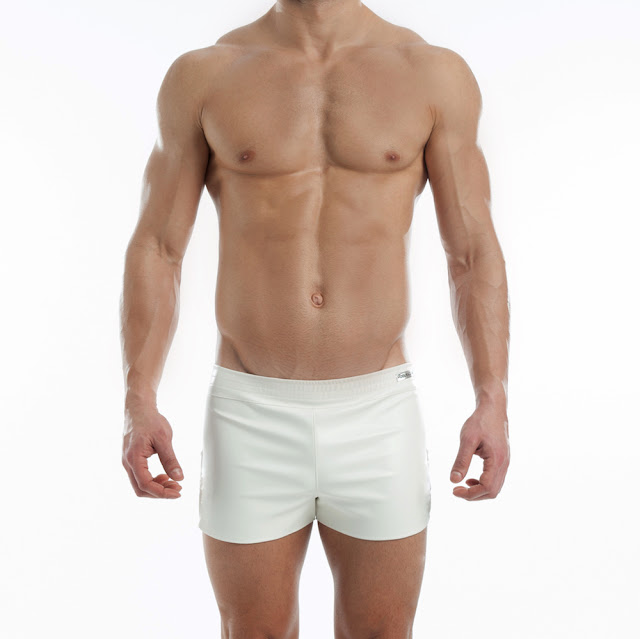 New White Leather shorts by Modus Vivendi