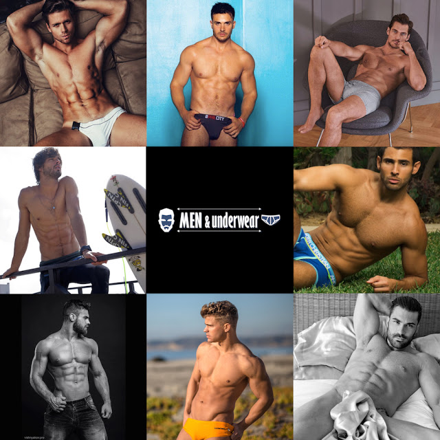 The top 8 nominated for Best Model for 2015 at Men and Underwear Awards