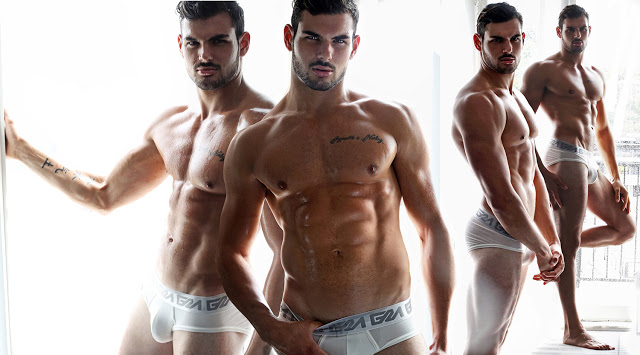 Romain Bonnet by Karim Konrad for Garçon Model underwear