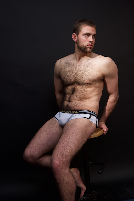 Men and Underwear exclusive. Model Phil Bruce by Gavin Harrison.