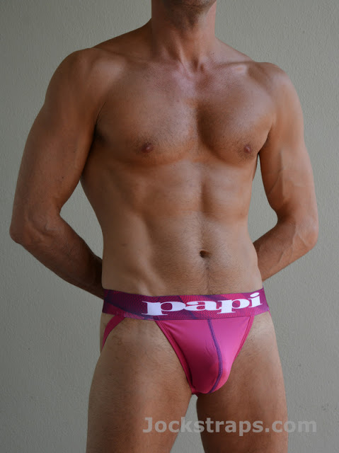 Papi Microfusion Performance jocks in bold colours at Jockstraps.com