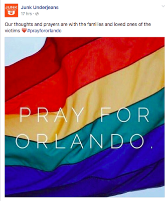 Underwear brands united for Orlando shooting