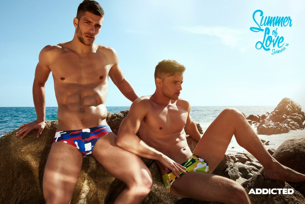 ADDICTED CAMOUFLAGE SWIM BRIEF