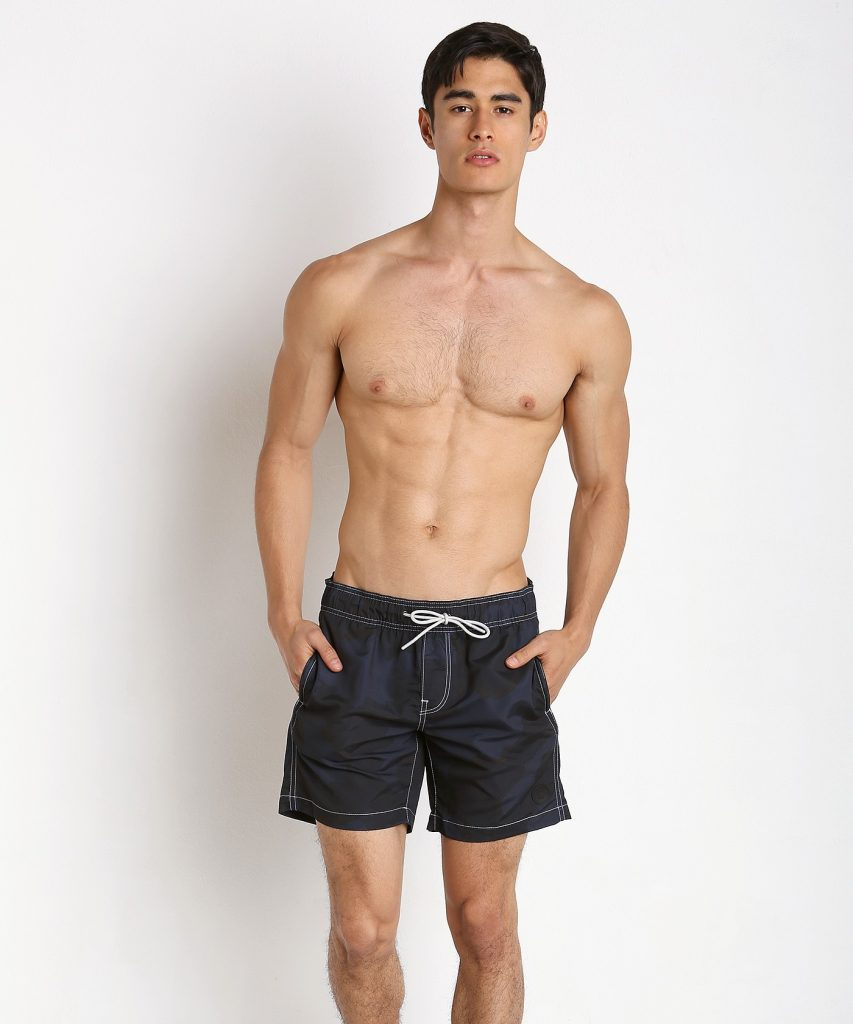 G-STAR DIRIK CAMO SWIM SHORTS MAZARINE BLUE