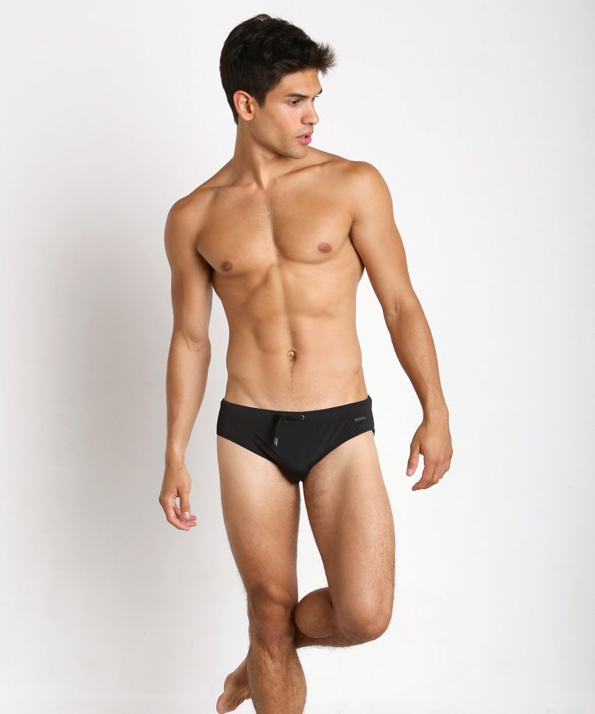 PARKE AND RONEN MERIDIAN SOLID SWIM BRIEF BLACK