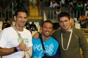 Murilo Bustamante, Andrea Baggio e Demian Maia - Tijuca Tênis Clube, 2006