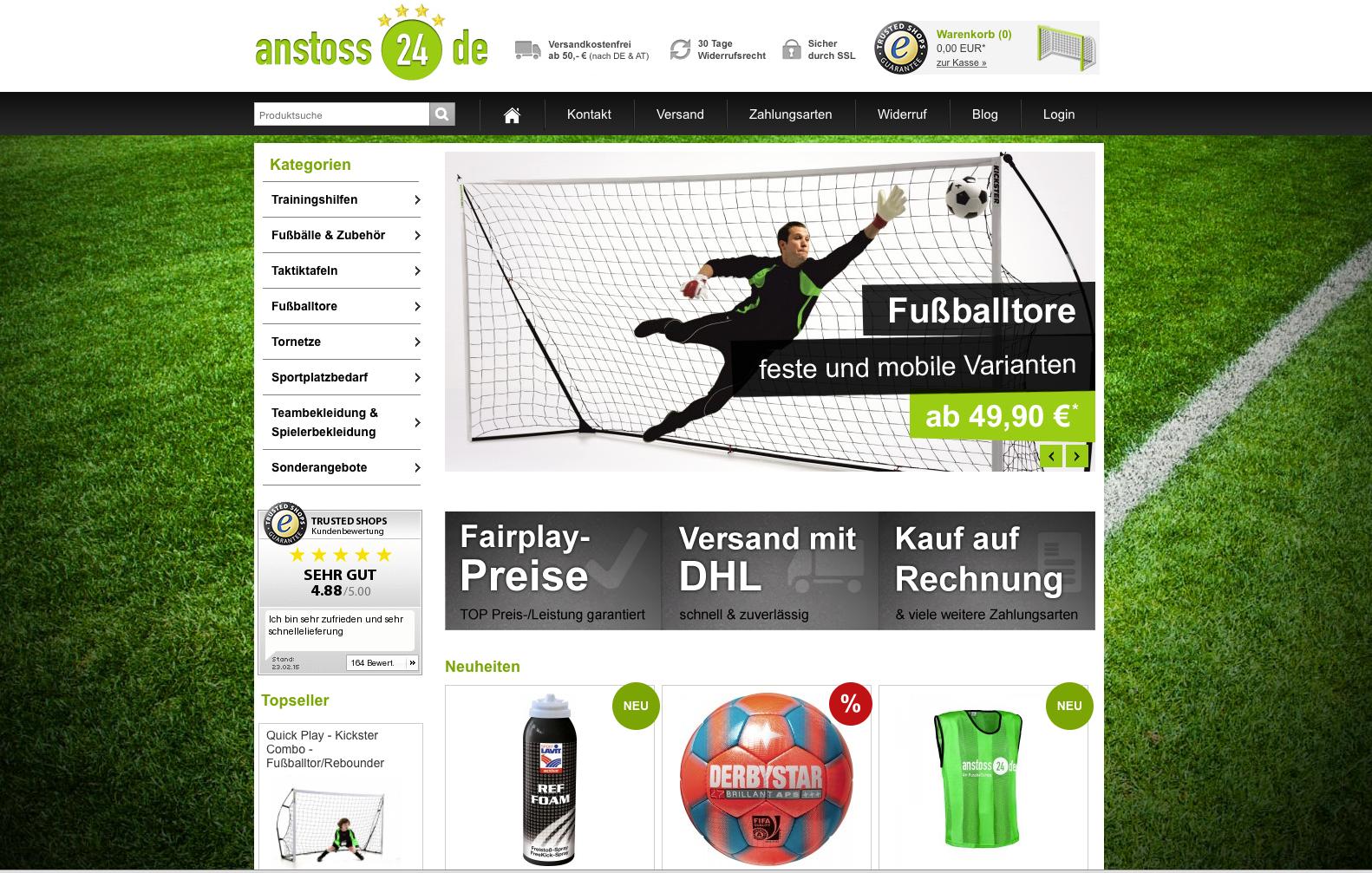 Anstoss24 Onlineshop