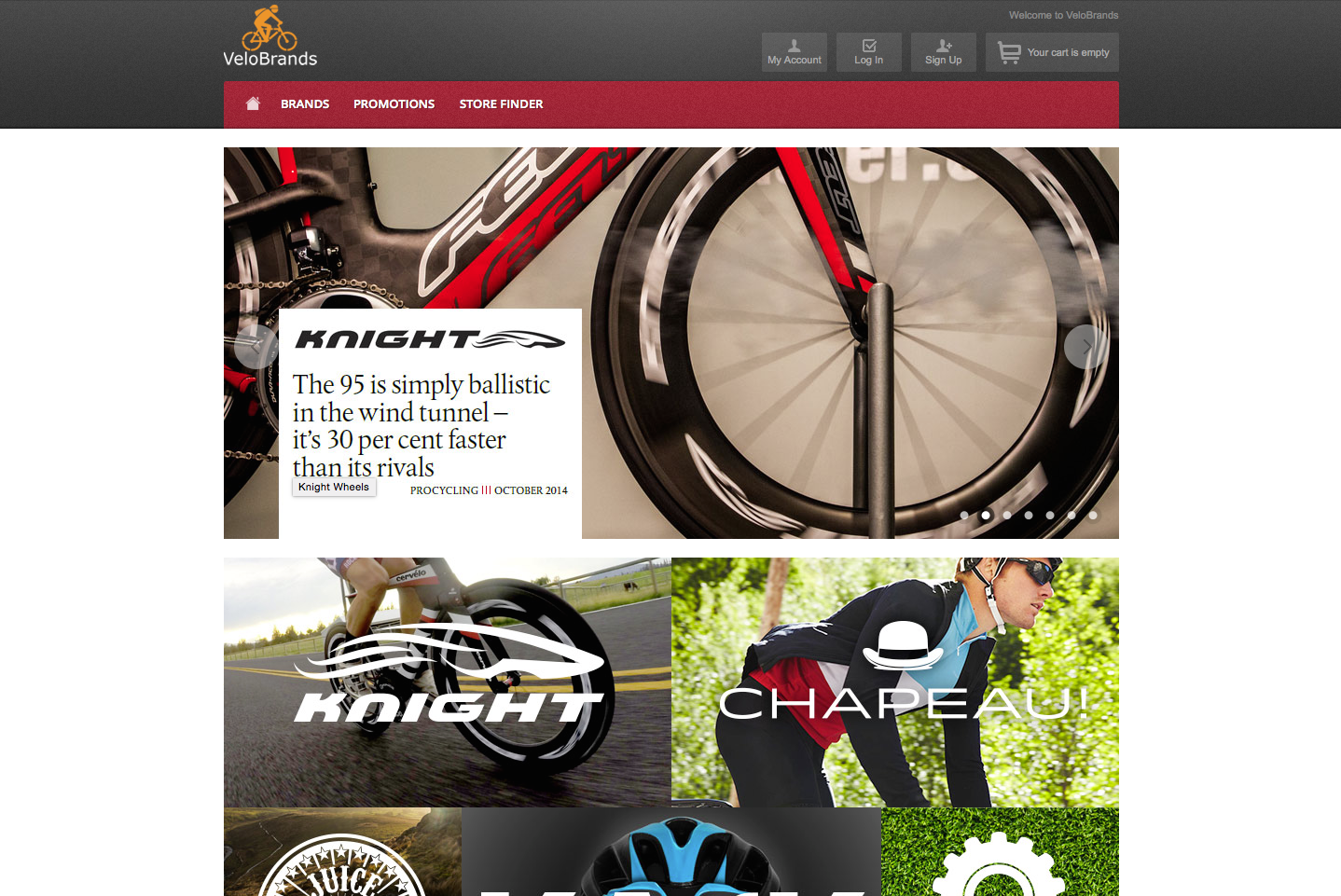 VeloBrands Onlineshop
