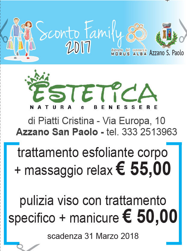 Promozione Trattamento esfoliante corpo + massaggio relax € 55,00