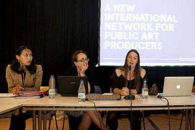 ENPAP Caucus: panel with Tati Freeke-Suwarganda/SKOR, Alicia Miller/moderator, Stella d'Ailly/Mossutställningar