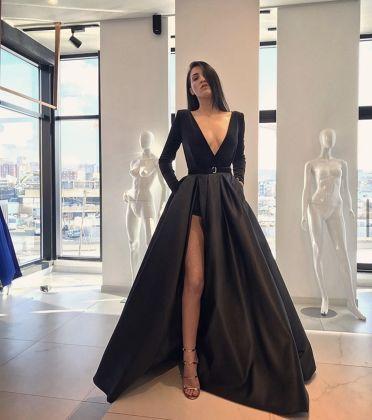 LS BLACK velvet long sleeve