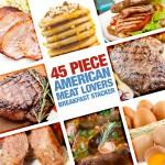 45 Piece American Meat Breakfast Stacker!