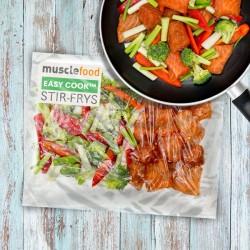 Teriyaki Salmon Stir-Fry 1 Person