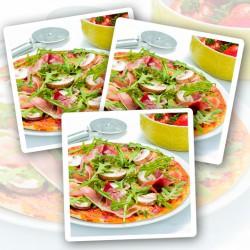 Schinken & Champignons Eiweißpizza – 3er Pack