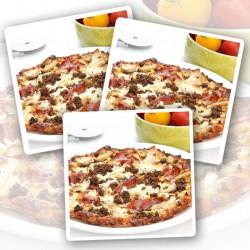 Mächtig fleischige Eiweißpizza – 3er Pack