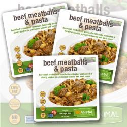 Rinder-Hackbällchen & Nudeln – 6 Mahlzeiten